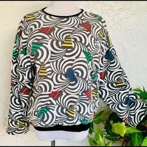 Tops - Reversible geometric pillowy comfort sweatshirt